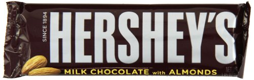 Hershey Milk Chocolate with Almonds, 1.45-Ounce Bars (Pack of - Bars Chocolate 36ct Box