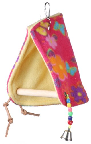 Super Bird Creations Peekaboo Perch Tent, 12 by 6.5-Inch, Medium Bird Toy