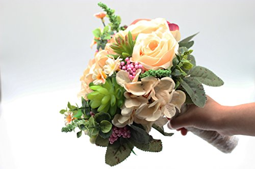 Yokoke-Wedding-Bridal-Bridesmaid-Bouquet-Wedding-Holding-Flower-Artificial-Peony-Rose-Green-Succulent-for-Wedding-Church-Party-Home-Decor