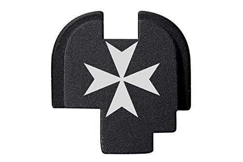 NDZ Performance Maltese Cross 1 Engraved Rear Back Plate for Springfield Armory XDs 9mm .40 .45acp -Single Stack ()
