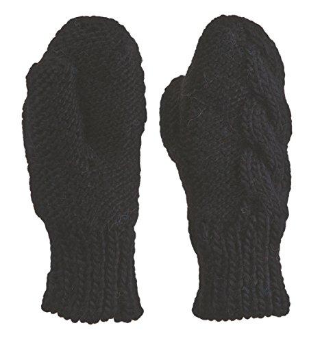ジョージバーナード尊敬するモニカBULA(ブラ) ARAN MITTEN F3HMARA BLACK O/S