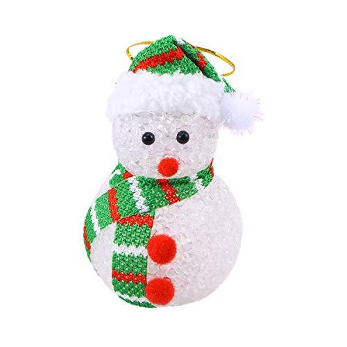 Vosarea LED Lighting Snowman Hanging Light up Pendant Ornament for Door Wall Party Home Garden Xmas Tree - Snowman Eva