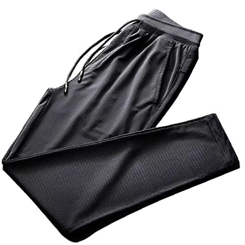 Hainice Running Stretch Pants Ice Silk Lichtgewicht Broeken Spring Summer Casual trainingsbroek voor Man Gym Sport Yoga…