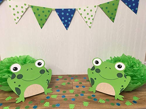 (Frog, full, set, Cut Out, toad, bullfrog, croaker, polliwog, banner, confetti, birthday, party, cake smash, photo shoot, backdrop,)