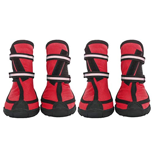 SENERY Pet Dog Shoes Boots,Winter Outdoor Sport Rain Snow Feet Waterproof Non-Slip Anti-Slip Dogs Booties (Rain Boots Dachshund)