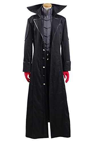 Xiao Maomi Mens Halloween Suit Uniform Black Coat Cosplay Costume (Custom made, Full (Custom Made Halloween Costumes For Men)