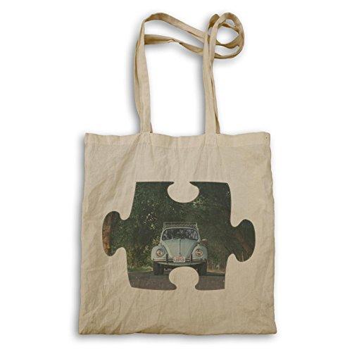 Puzzle Vintage Old Nice Car Vw Carry Bag E593r