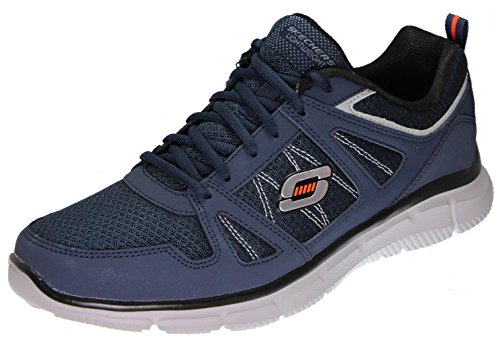 Skechers Equalzier 2.0 Settle The Score - Scarpe Sportive, Uomo Navy/Grey/Silver