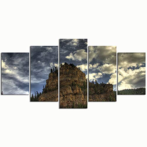 Paintings Modern Canvas Painting Wall Art Pictures 5 Pieces Glenwood CanyonDecor HD Printed Posters Frame