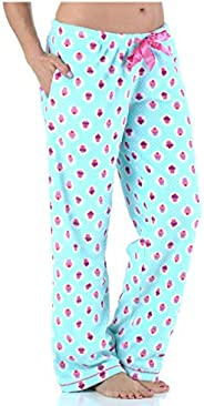 PajamaMania Women's Fleece Pajama PJ Pants