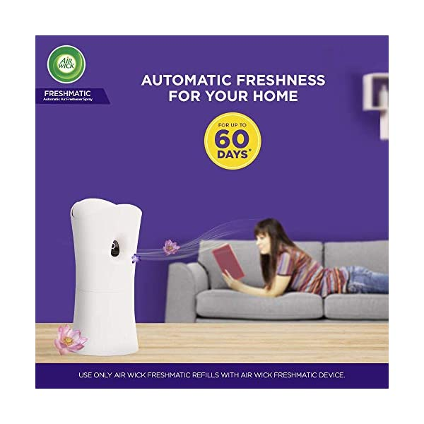 Airwick Freshmatic 'Scents of India' Air-freshner Complete Kit [Machine + Hills of Munnar refill - 250 ml] Perfumes