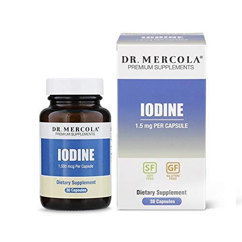 Dr. Mercola, Iodine, 90 Servings (90 Capsules), Non GMO, Soy-Free, Gluten Free