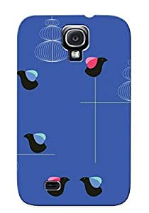 Bevrvv-2474-pckxqbl Case Cover Protector Series For Galaxy S4 Blue Birds Case For Lovers