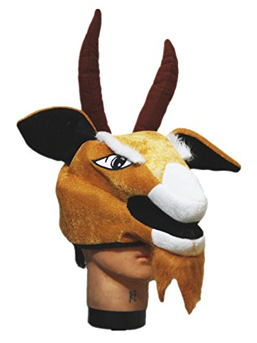 [Brown Goat Sheep Warm Hat Costume Unisex Children Adult for Halloween Party (One Size)] (Warm Costumes)