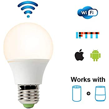 led smart bulb wifi light bulb warm white to cool white dimmable no hub required 65w. Black Bedroom Furniture Sets. Home Design Ideas