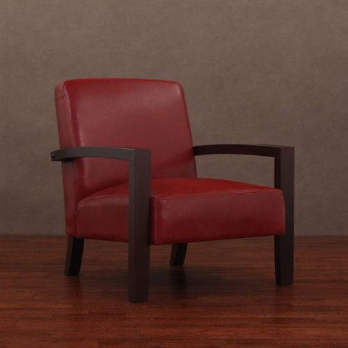 Roadster Burnt Red Leather Lounge Chair, Arm Chair