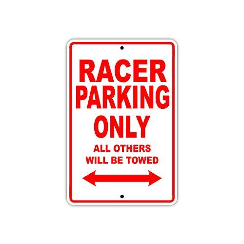 Parking Nascar Sign (Racer Car Nascar Parking Only Gift Decor Novelty Garage Metal Aluminum Sign 8