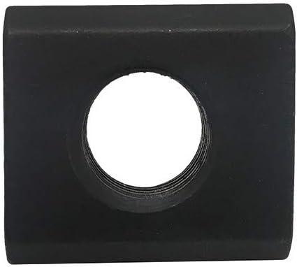 PROLINEMAX 2 Pc 1//2 T-Slot Nut 3//8-16 Thread Table Slot Tapped Through Black Oxide Finish