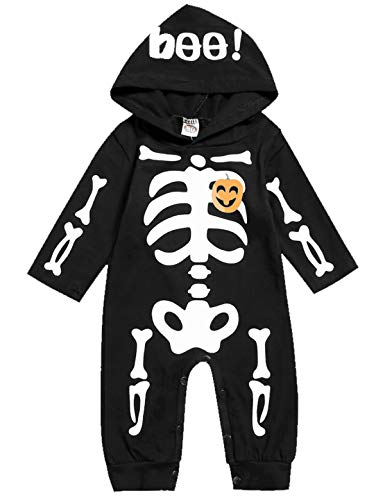 Skeleton And Baby Skeleton Costumes - Singcoco Halloween Baby Boys Girls Skull