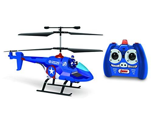 - Marvel Avengers Captain America 3.5CH IR Hero Pilot Helicopter, Blue, 19.5 x 3 x 8