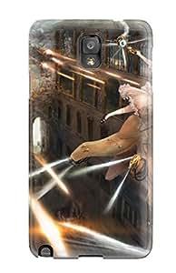 DanRobertse Case Cover For Galaxy Note 3 - Retailer Packaging Battles Guys Robot Firing Anime Fantasy Girls Original Protective Case