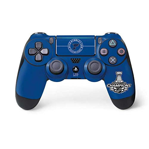 Skinit 2019 Stanley Cup Champions Blues PS4 Pro/Slim Controller Skin - Officially Licensed NHL Gaming Decal - Ultra Thin, Lightweight Vinyl Decal Protection