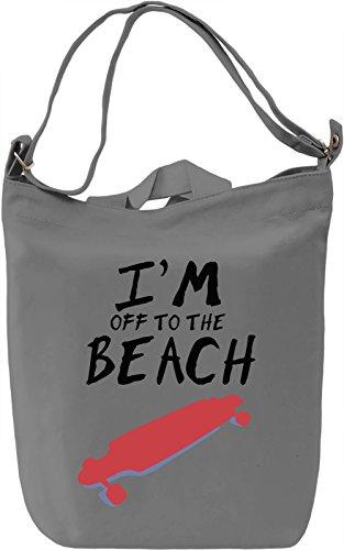 Off to the beach Borsa Giornaliera Canvas Canvas Day Bag| 100% Premium Cotton Canvas| DTG Printing|
