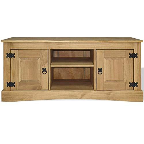- BLUECC TV Stand Mexican Pine Corona Range TV Cabinet Rustic Farmhouse Decor for The Home 47.2