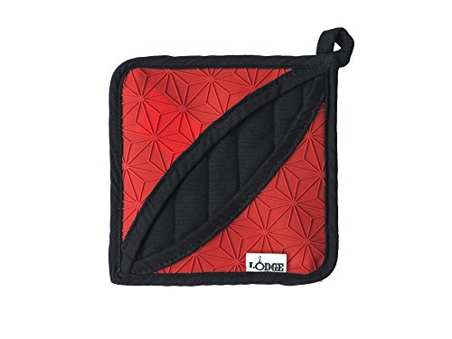 Lodge Manufacturing Company ASFPH41 trivet/potholder, Red/Black (Lodge Trivets)