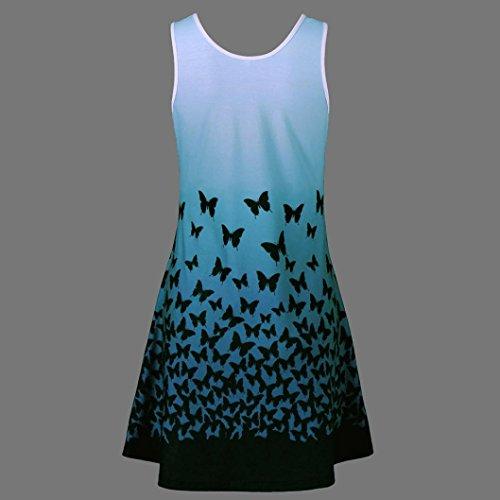 UFACE Lady Butterfly Print Kleid Schmetterlings Druck Sleeveless ...