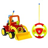 Best Caterpillar Toddler Trucks - Haktoys My First RC Cartoon Construction Truck Review
