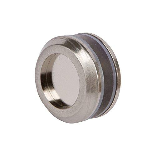 Rockwell Sliding Shower Door Finger Pull Knob in Brushed Nickel Finish,1-1/4 inch diameter, solid brass construction works on bipass shower (Brass Sliding Shower Door)
