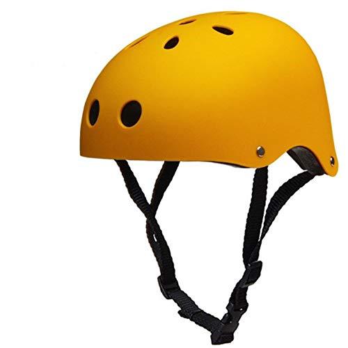 GROSSARTIG Climbing Helmet Rescue Rappelling River Raft Drifting Helmet Equipment (Color : Yellow-a, Size : L 57-60CM) (Best Helmet For Drifting)