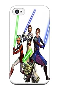 New Style 5595820K315308636 star wars attack clones lightsaber Star Wars Pop Culture Cute For Apple Iphone 4/4S Case Cover
