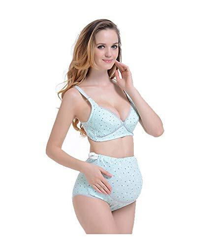 03f1387cb64 Bold N Elegant Premium Quality Breathable Polka Dot Print Adjustable  Maternity Nursing Bra and Highwaist Underwear Set for Pregnant Women  Maternity Lingerie ...