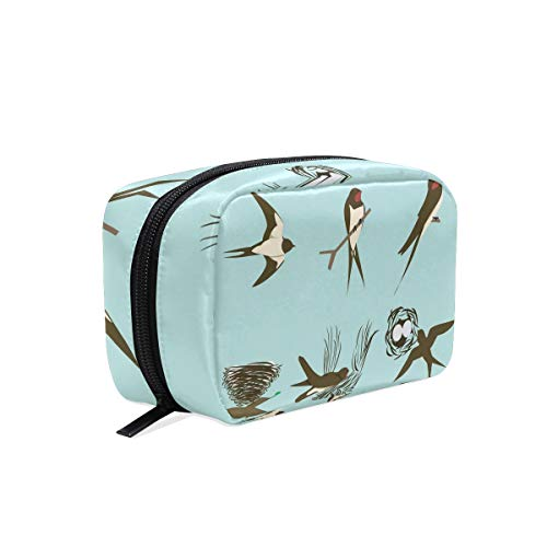 Swallows And The Nests Travel Makeup Cosmetic Bags Organizer Bag Multifunction Case Pouch Cosmetic and Toiletries - White Nest Swallow