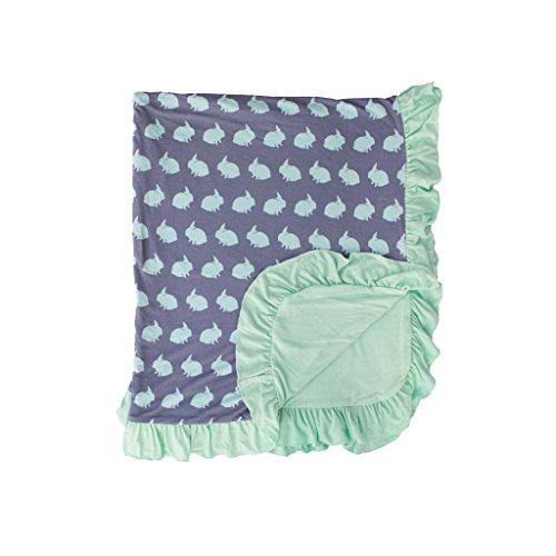 Kozi & Co. Ruffle Stroller Blanket Newborn Baby Girls Bunny Hop Bunny Hop Baby Blanket