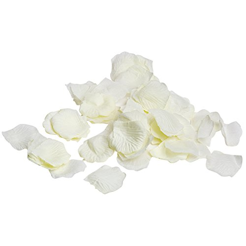 Ivory Rose Floral - Royal Imports Ivory Silk Flower Artificial Rose petals Wedding Aisle, Party Favor & Table, Vase, Home Decoration, 1000 PCS