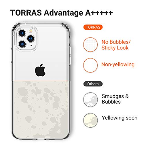 TORRAS Crystal Clear Compatible for iPhone 11 Pro Case [Non-Yellowing] Soft Silicone Shockproof Thin Cover Slim Gel…