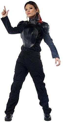 Halloween Women's Katniss Costume Combat Tactical Style Outfits 2015 Black L (Katniss Everdeen Halloween Costumes)