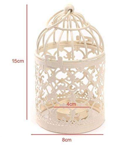 Blanc Depory 8/x 14/cm Birdcage-Shape M/étal Photophore lanternes Mariage Maison D/écoration de Table
