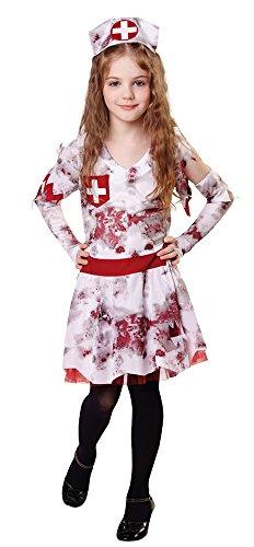 Bristol Novelty Zombie Nurse Costume (L) Childs Age 7 - 9 -