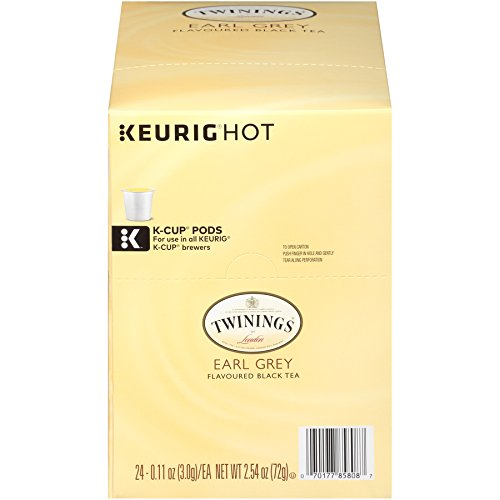 - Twinings of London Earl Grey Tea K-Cups for Keurig, 24 Count