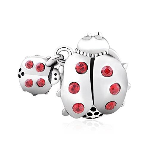 925 Sterling Silver Ladybug Charm Fit Pandora - Sterling Bug Silver