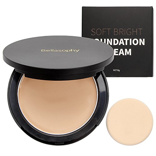 Creme Foundation - Bellasophy Compact Pur Mineral Creamy Soft Smooth Matte Full Coverage Foundation Long Lasting with The Sponge-Classic Ivory