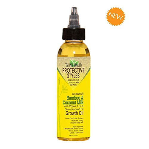Taliah Waajid Hair Gro Bamboo and Coconut Milk Growth Oil, 4 Ounce (Best Protective Styles For Natural Hair)