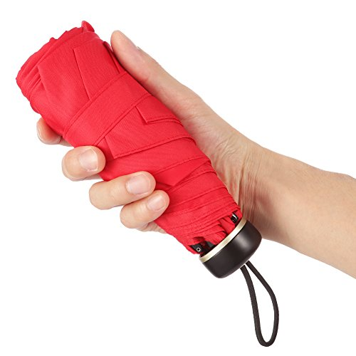 IdealHouse Mini Travel Umbrella Compact Pocket Umbrellas Tiny Lightweight Parasol 95% UV Protection Purse Umbrella for Kids Women