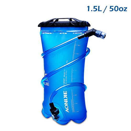 (JEELAD 1.5/ 2/ 3L BPA Free Hydration Bladder Water Reservoir for Camping Hiking Backpack Cycling (1.5L (50oz) - TPU))