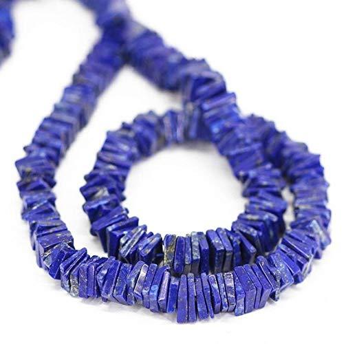Beads Bazar Natural Beautiful jewellery Blue Lapis lazuli Smooth Square Heishi Cube Gemstone Loose Craft Beads Strand 16