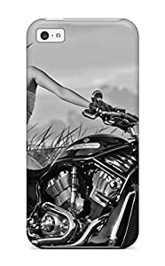 New Arrival Case Cover With KgLetiX2428WAuEB Design For Iphone 5c- Girls And Motorcycles